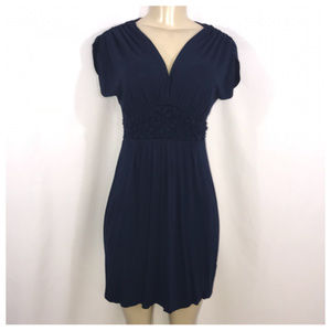 Gilli Navy Blue V Neck Mini Dress Small